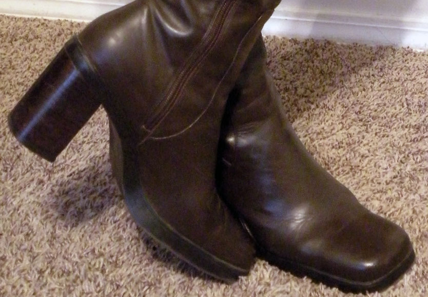 Inspect heels, soles, etc. when buying used boots